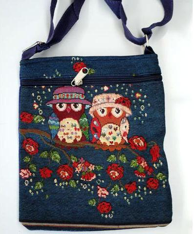 Bags3 CC19 - Owls with Hats/Blue Image