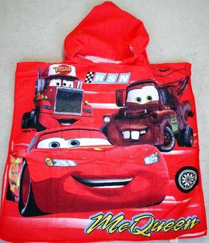 Hooded Towel - Cars Image