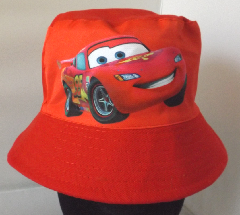 Bucket Hat - Cars - Red - Lightning McQueen Image