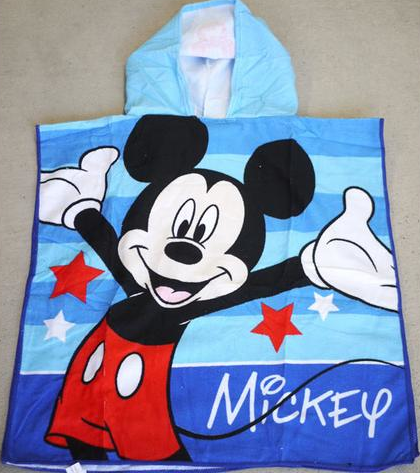 Hooded Towel - Mickey Image